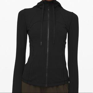 NWT Lululemon Define Hooded Jacket Nulu Black Sz 6